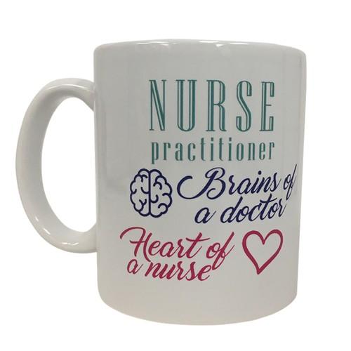 Nurse Practitioner Brains Of A Doctor Heart of A Nurse 11 oz Coffee Mug