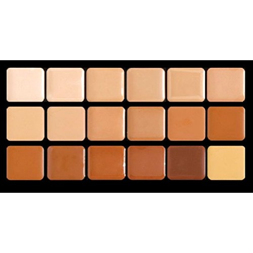 Warm HD Glamour Creme Super Palette Graftobian Long Lasting Lip 18-Color