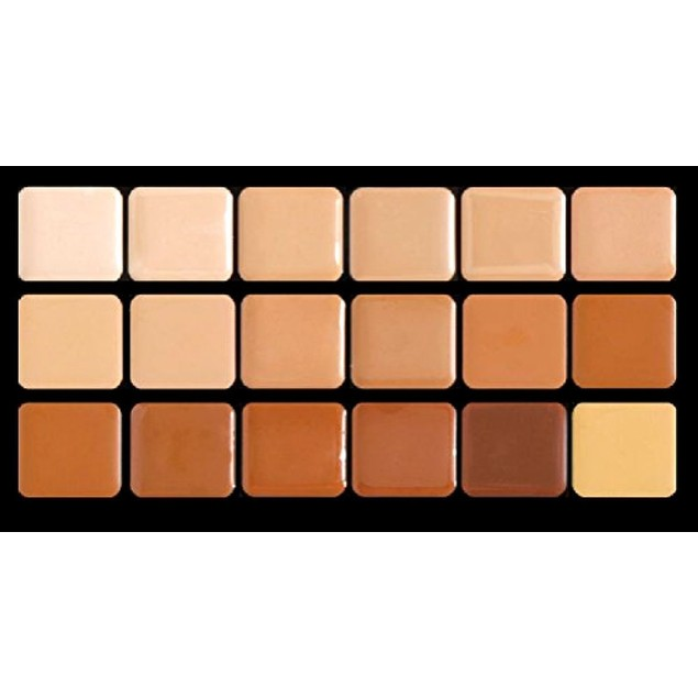 Warm HD Glamour Creme Super Palette Graftobian Long Lasting Lip 18-Color