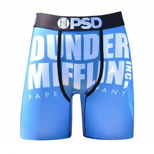 The Office Dunder Mifflin Men's Blue Boxer Briefs