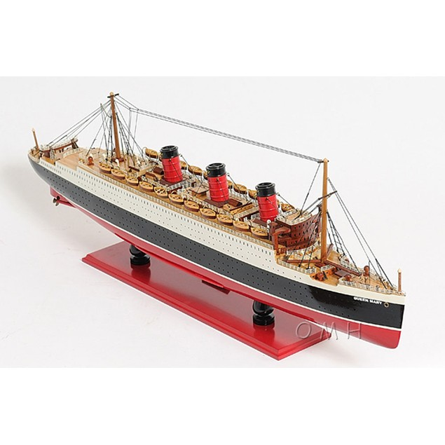 """Old Modern Handicrafts """"Queen Mary"""" Ship Model"""