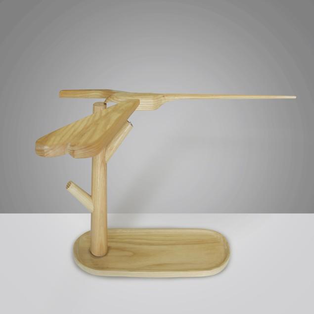 Dragonfly Balancing Lamp, Handcrafted Wood Lamp