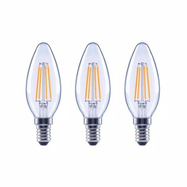 EcoSmart 60-W B11 Dimmable Filament Vintage Style LED Light, 3 Pk, Clear