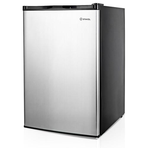 STAKOL 3 cu.ft. Compact Upright Freezer w/Single Stainless Steel Door Remov
