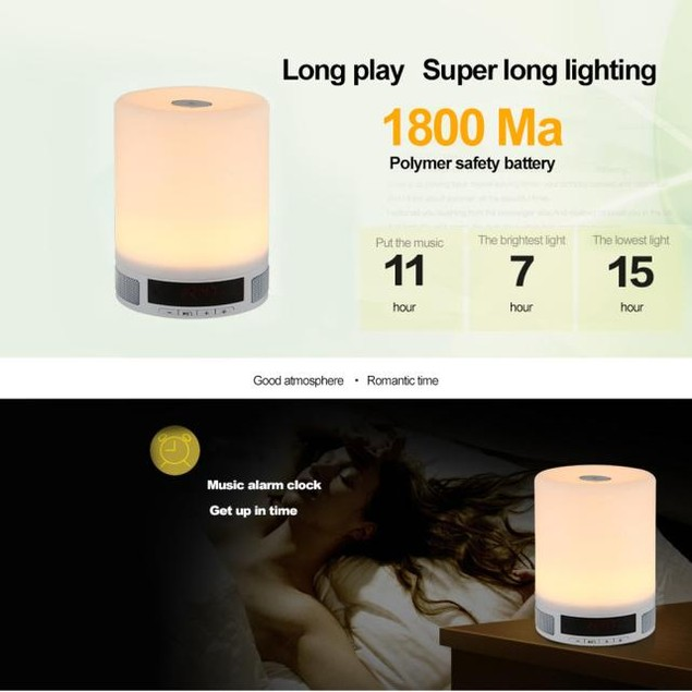 wireless bluetooth speakers intelligent stereo music led lights