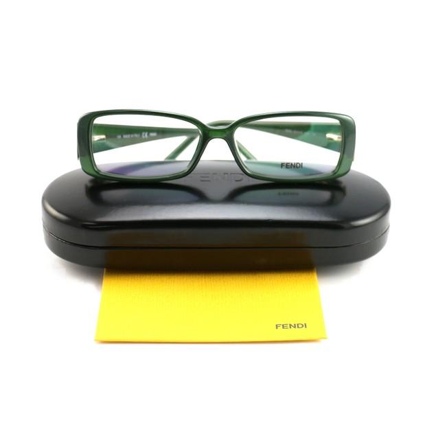 Fendi Women's  Eyeglasses FF 975 315 Green Frame Glasses 52 14 135