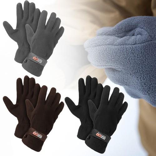 3-Pairs Men's Fleece Lined Adjustable Gloves