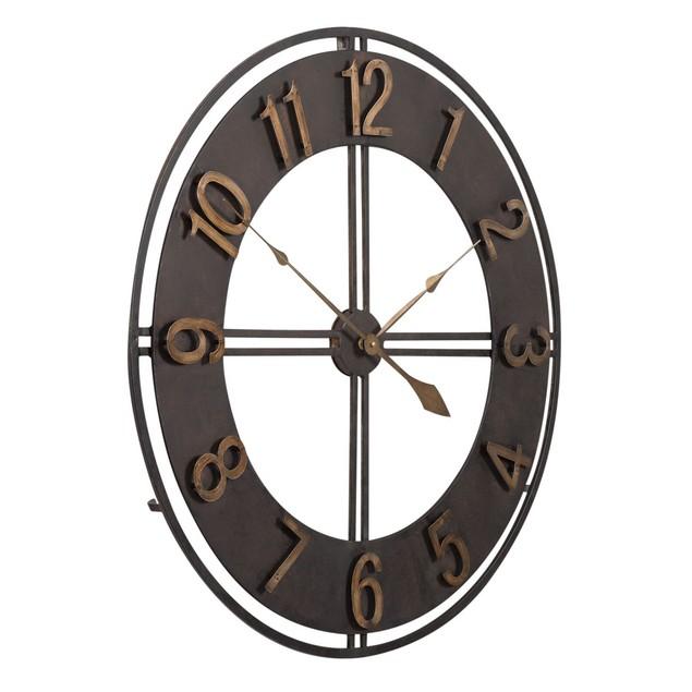 """Studio Designs Home 30"""" Industrial Loft Metal Wall Clock  Bronze"""