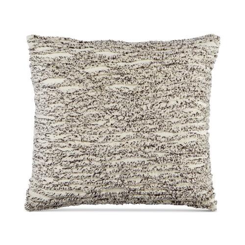 Whim by Martha Stewart Cotton Tufted Chenille Stripe 20'' Decorative Pillow