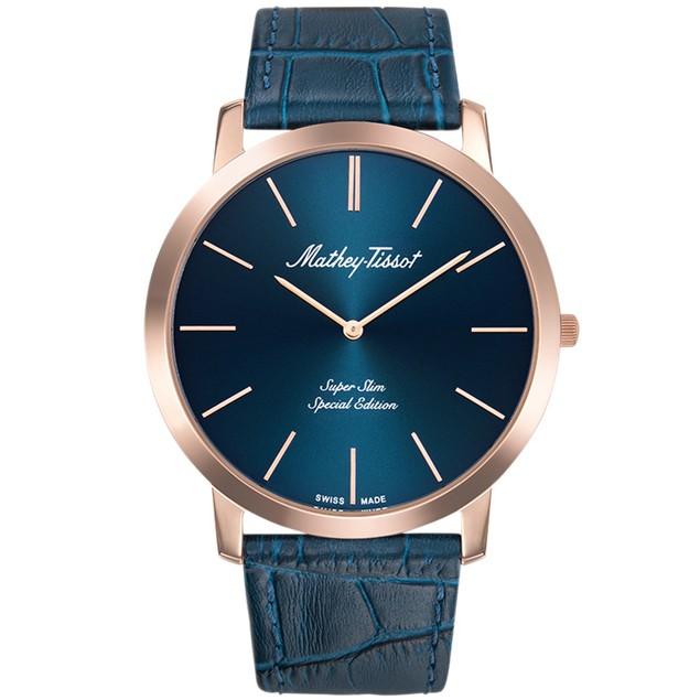 Mathey Tissot Men's Cyrus Blue Dial Watch - H6915PBU