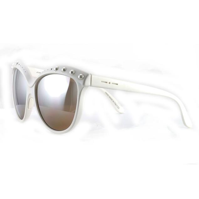 Italia Independent Women's Sunglasses II 0092 P White / Peach 58 20 140