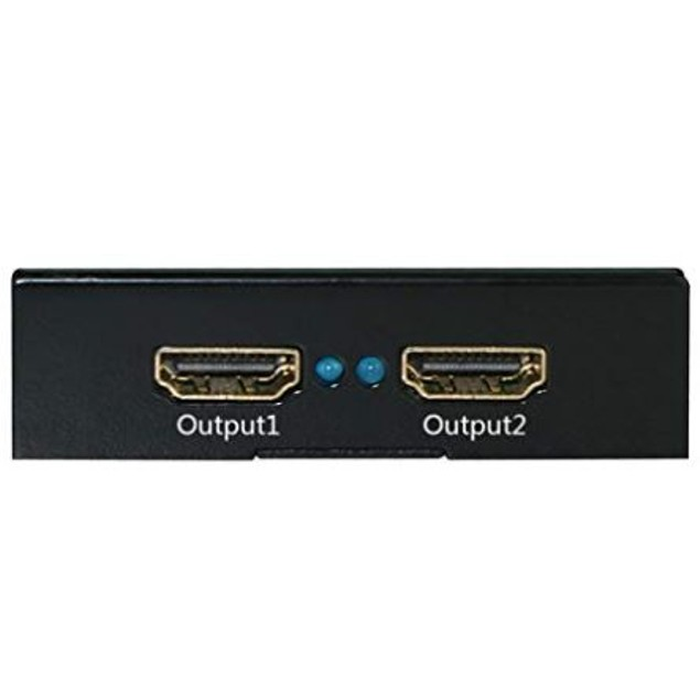 HDMI Splitter Power Switch Hub Full 3D W/ 3Gbps Bandwidth 1 in 2 out