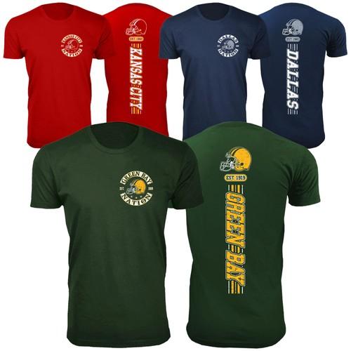 Men's Football Stripes T-Shirts