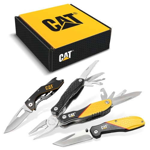 Cat 3 Piece 13-in-1 Multi-Tool and Pocket Knives Gift Box Set - 240126