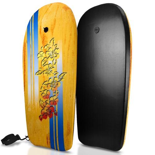 Bodyboard Kickboard Surfing Skimboard Wake Boogie Board Pool Toy Hawaii