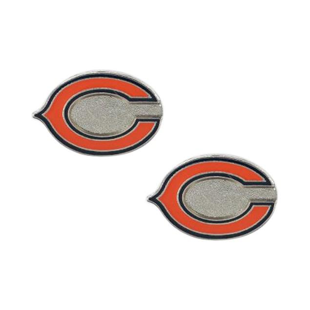 Chicago Bears Post Stud Logo Earring Set Charm Gift