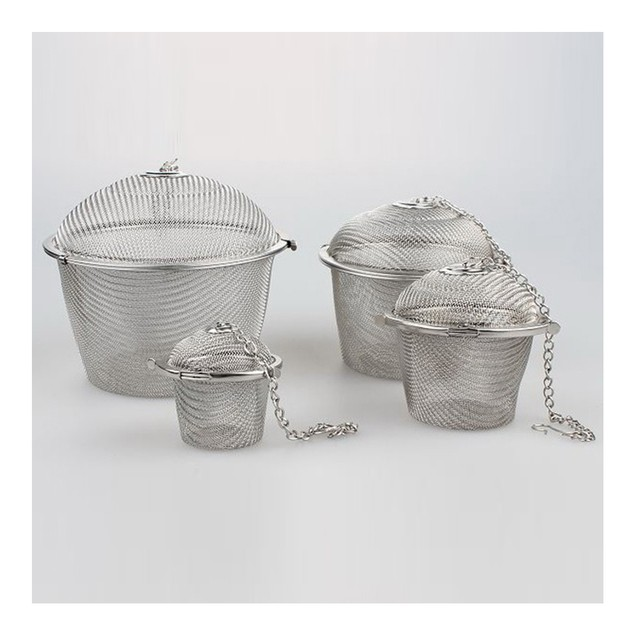 8.5cm Stainless Steel Flavor Ball Strainer Soup Tea