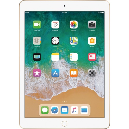 "Apple iPad 5, MPGW2LL/A, 9.7""/A9/128GB, Gold/White (Refurbished)"