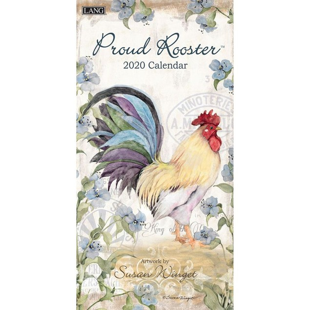 Proud Rooster Vertical Wall Calendar, Vertical Wall Calendars by Calendars