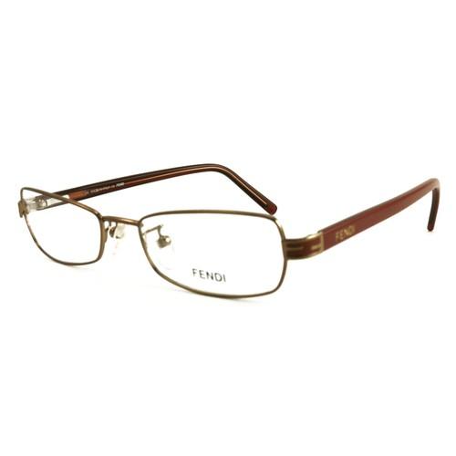 Fendi Women Eyeglasses FF714 254 Bronze/Brown 50 18 135 Full Rim Rectangle