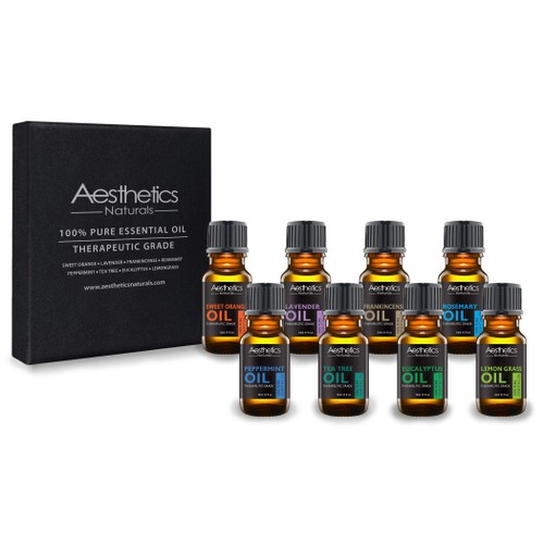 Therapeutic-Grade Aromatherapy Essential Oil Collection (8-Pack)