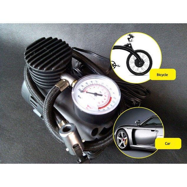 12V Auto Electric Air Compressor Tire Inflator Pump 300 PSI for Car Moto
