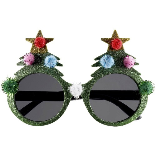 Christmas Tree Sunglasses Ugly Sweater Party Glasses Xmas Holiday Gift