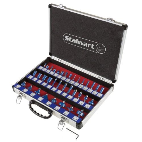 Router Bit Set in Aluminum Case 35 Pc Stalwart