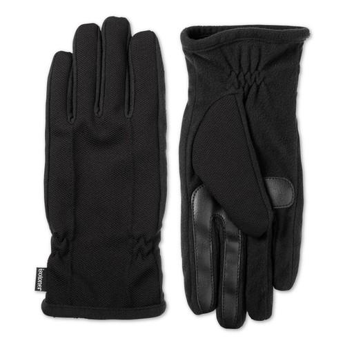 Isotoner Signature Men's Casual Knit Gloves Black Size Large