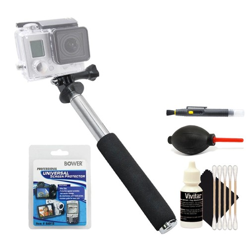 Monopod + Lens Cleaner + Dust Blower + Screen Protector Kit + 3pc Cleaning Kit