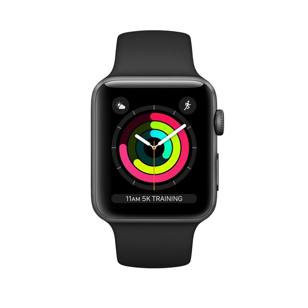 Apple Watch Series 3 38mm, GPS, Gray, 8 in, 1.5 in Screen