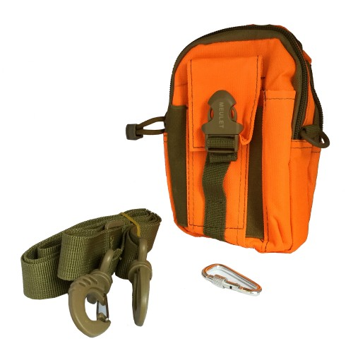 Multifunctional outdoor sports and mobile phone Military Bag Orange 15 Pcs