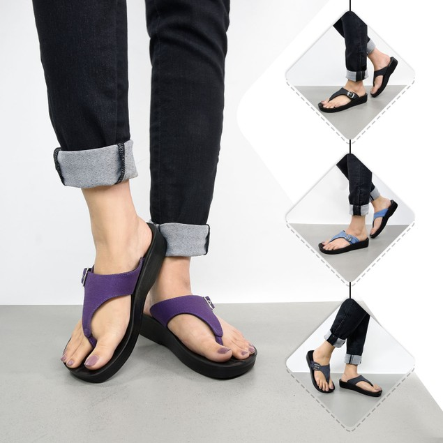 AEROSOFT Denimre Summer Trendy Arch Support Comfortable Thong Sandals for Women
