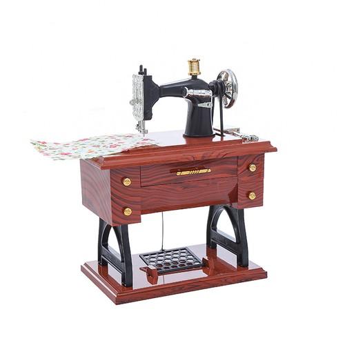 Antique Sewing Machine Elegant Music Box