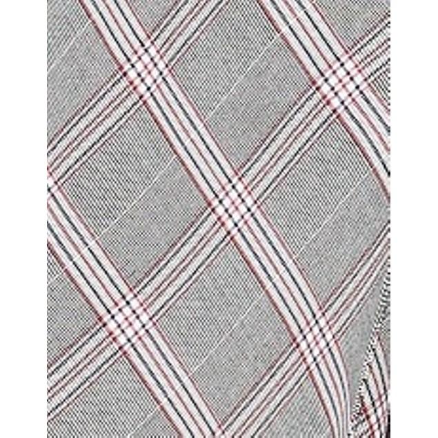 Bar III Women's Zipper-Detail Plaid Skirt Gray Size 16