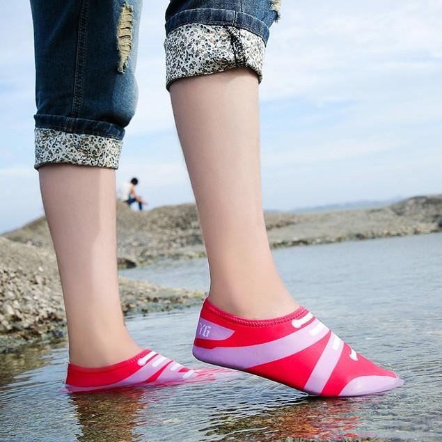Men Women Printed Quick-Dry Swim Surf Socks Yoga Skin Sports Beach Shoes