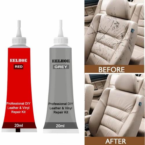 Leather Vinyl Repair For Furniture Car Seats Sofa Jacket Scratch Repair 20ml