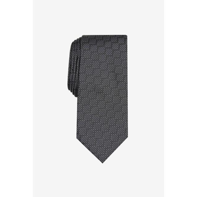 Alfani Men's Slim Geometric Grid Tie Black Size Regular