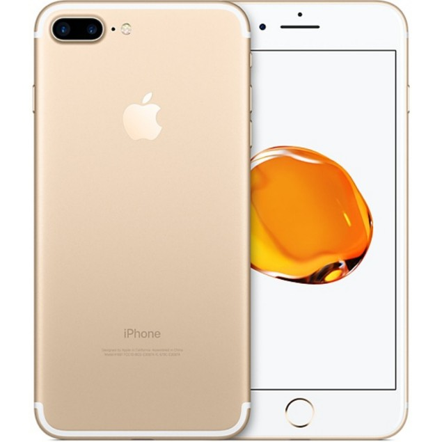 Apple iPhone 7 Plus, T-Mobile, Gold, 128 GB, 5.5 in Screen