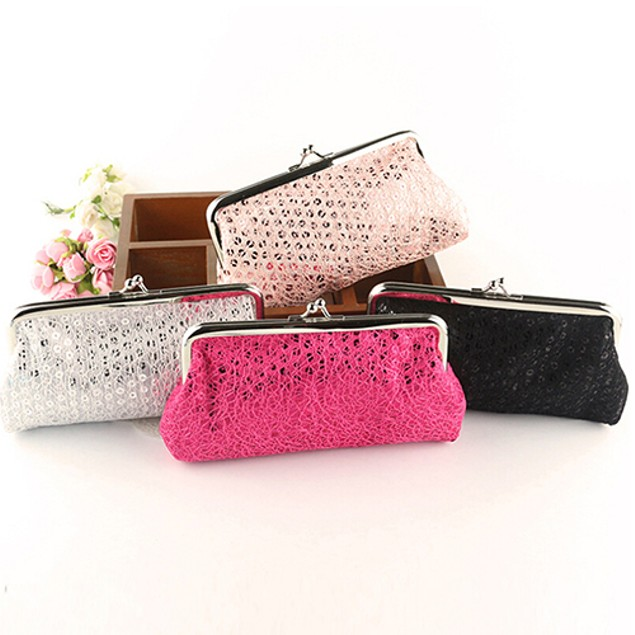 Women Buckle Clutch Evening Party Bag Phone Package Handbag Wallet Purse