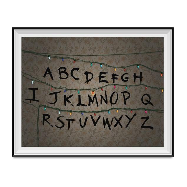 Alphabet Wall Poster 11 x 17