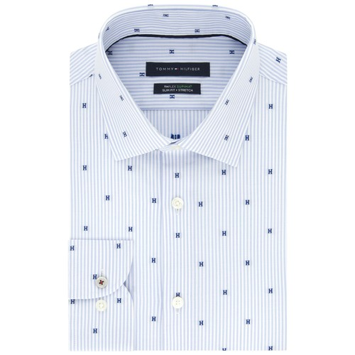 Tommy Hilfiger Performance Stretch Dot-Print Dress Shirt 17x34-35