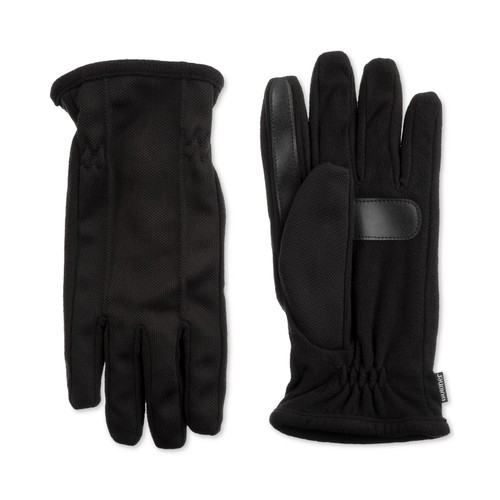 Isotoner Signature Men's Stretch Smartouch Gloves Black - Size Large