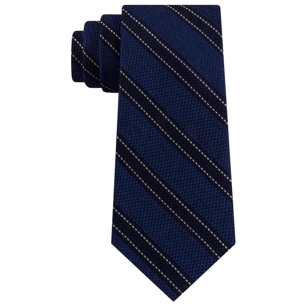 Tommy Hilfiger Men's Stitch Line Stripe Tie Brightblue Size Regular
