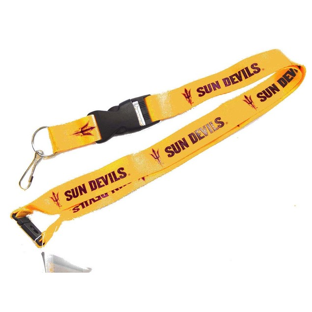 ASU Sun Devils Arizona Clip Lanyard Keychain Id Ticket - Yellow