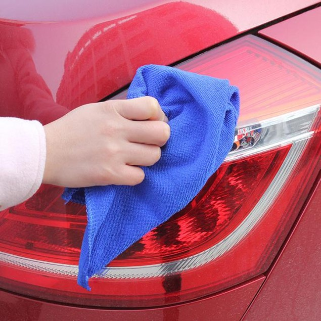 5Pcs Soft Absorbent Wash Cloth Car Auto Care Microfiber Cleaning Towels