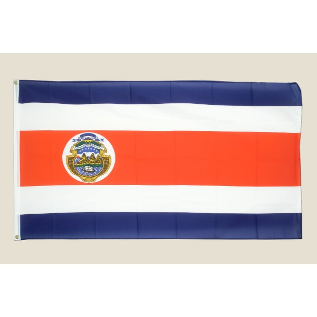 Costa Rica 3x5 Flag Red White Blue Polyester 2 Brass Grommets Rican