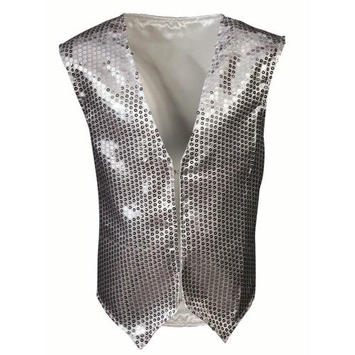 Child Silver Sequin Vest