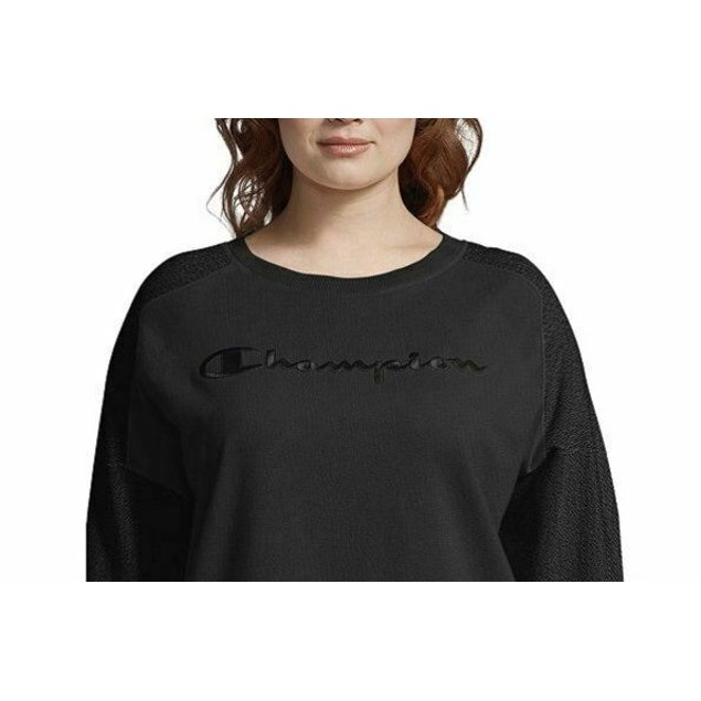 Champion Women's Plus Size Heritage Herringbone Sweatshirt Black Size 2X