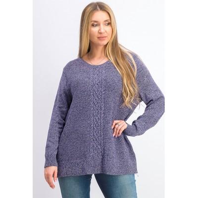 Karen Scott Women's Cable-Knit Panel Sweater Purple Size X-Large